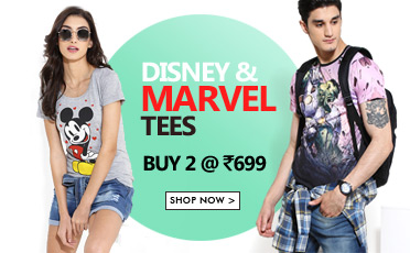 Disney & Marvel Tees (Buy 2) @ Yepme – Fashion & Apparels
