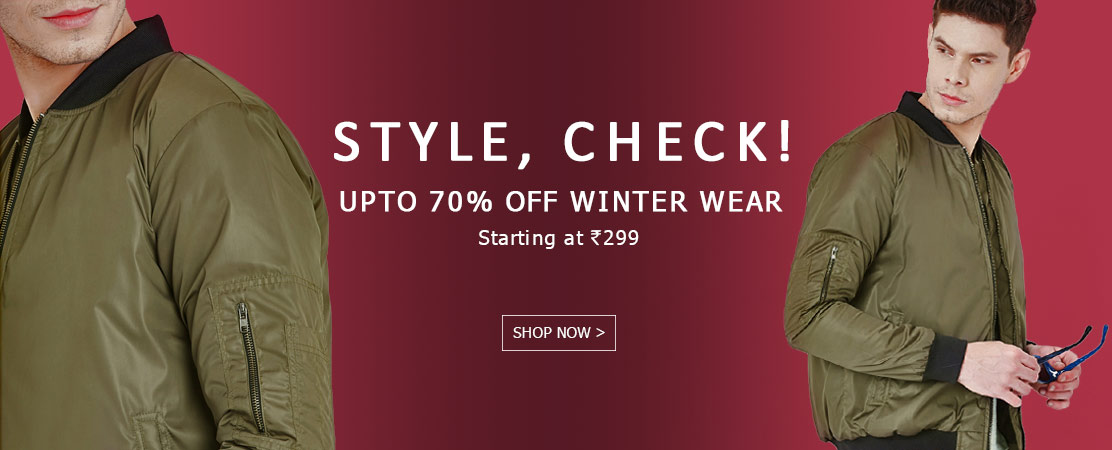 Upto 70% off on Winter Wear starting Rs.299 – Shop Online at Yepme.com