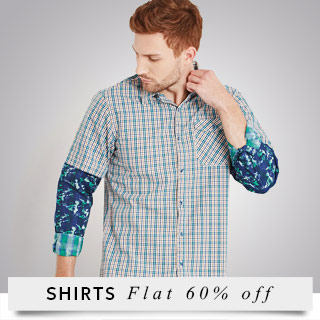 Get 60% Off on Men's Shirts