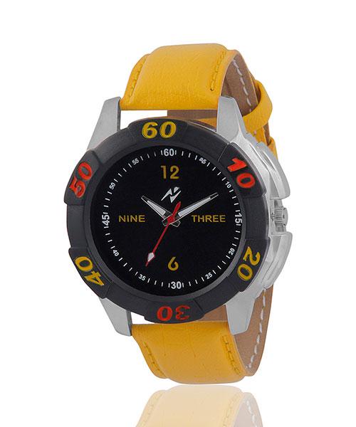 Yepme Remio Men's Watch - Black/Yel...