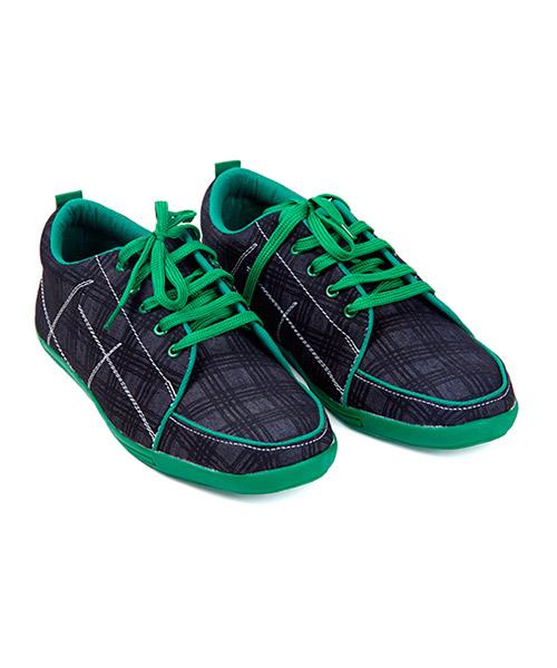 Yepme Blue Check Canvas Shoes