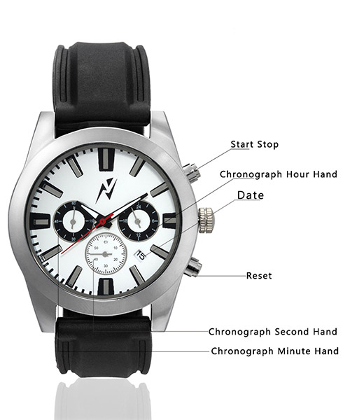 ca64e483506 Yepme Men s Chronograph Watch - White Black