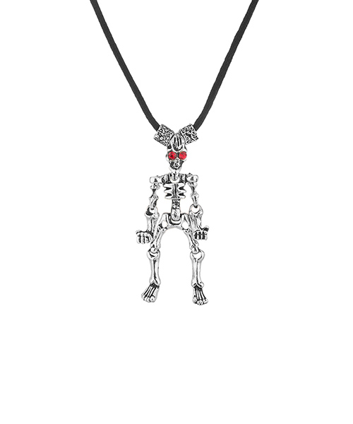 Voylla Voylla Bone Fashion Pendant Studded With Red Stone Eyes