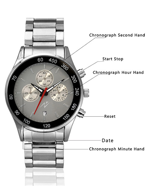 Yepme Men's Chronograph Watch - Grey/Silver