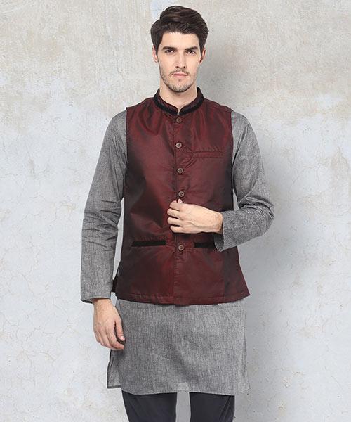 Yepme Kevin Nehru Jacket - Purple