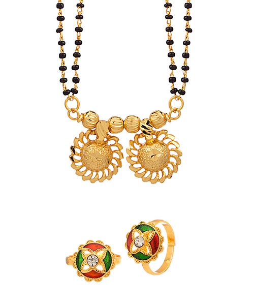 288294d2b4d3f1 Voylla Combo Offer Featuring A Double String Mangalsutra Online ...