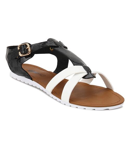 Yepme White & Black Sandals