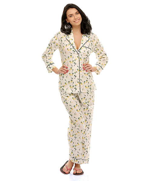 0b4b814756 Clovia Two Piece Night Suit In Cute Prints Online Shopping
