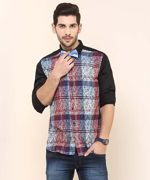 Yepme Curt Party Shirt - Black & Multicolor