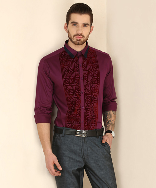 772908c4d7263 Axwell Party Shirt - Wine Online Shopping | 139267