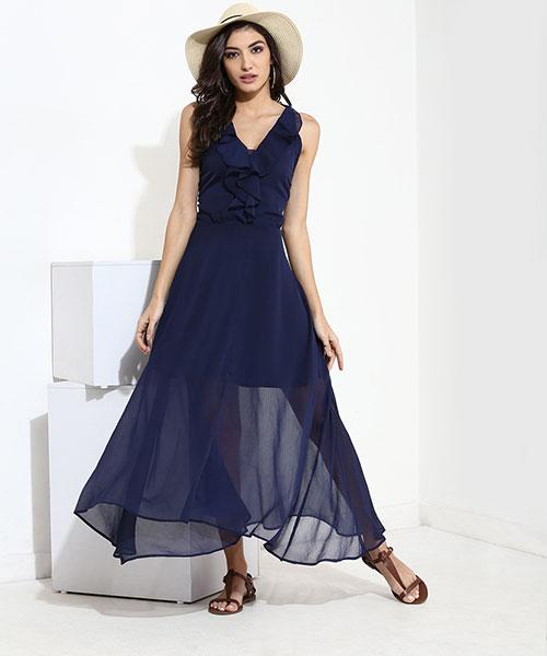 Yepme Agnes Maxi Dress-Navy Blue