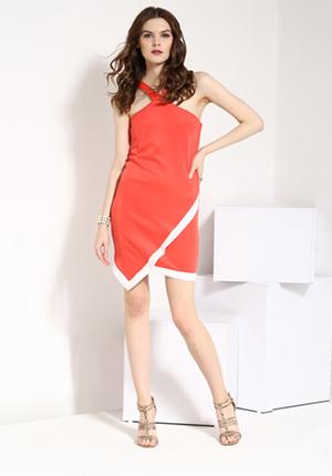 Yepme Charlotte Bodycon Dress - Coral