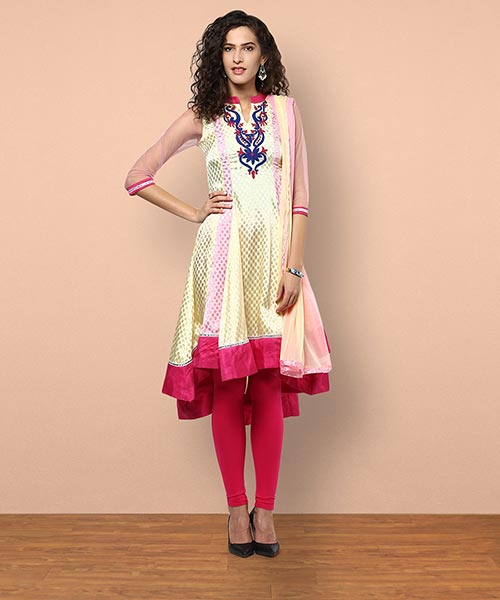 Yepme Rosa Salwar Suit - Yellow