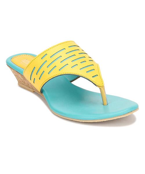 Yepme Yellow & Blue Sandals