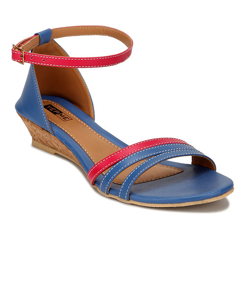Yepme Blue & Pink Sandals