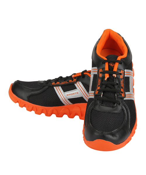 Yepme Officious Sports Shoes - Black & Orange
