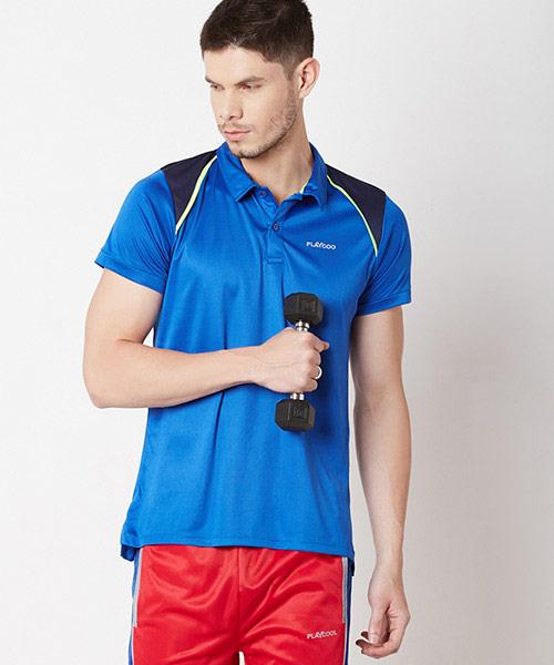 Yepme Scott High Performance Polo Tee - Blue