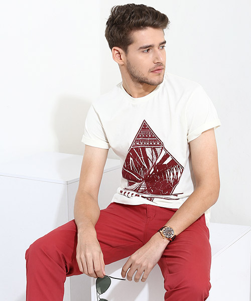Yepme Perspective Graphic Tee - White