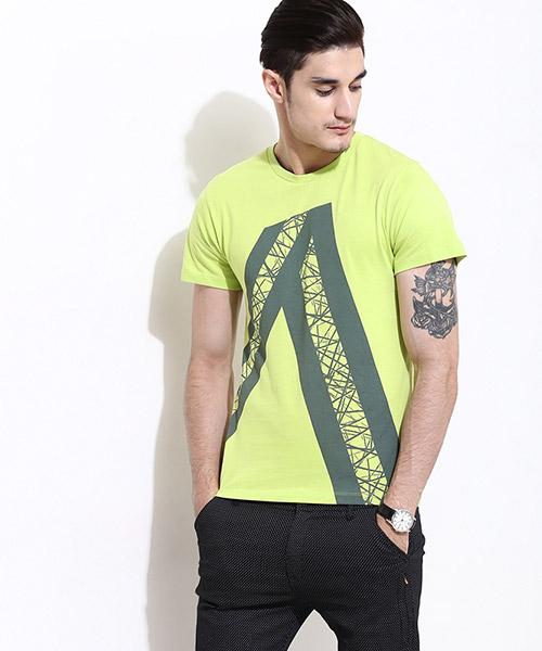Yepme Angled Stripes Tee - Green