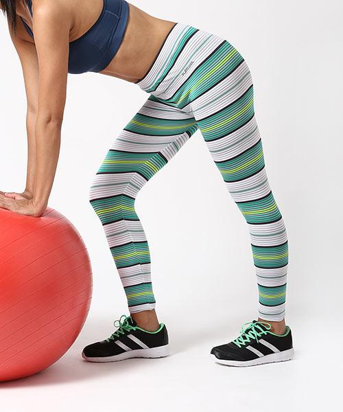 26c48912d19ad Sabrina Striped Leggings - Green & White Online Shopping   153211