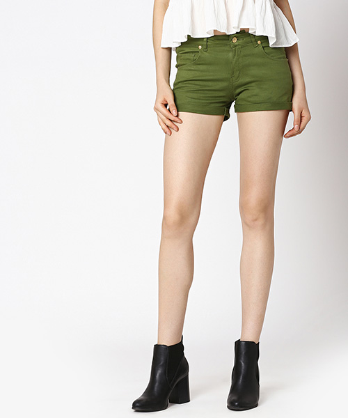 Yepme Jess Colored Shorts - Green