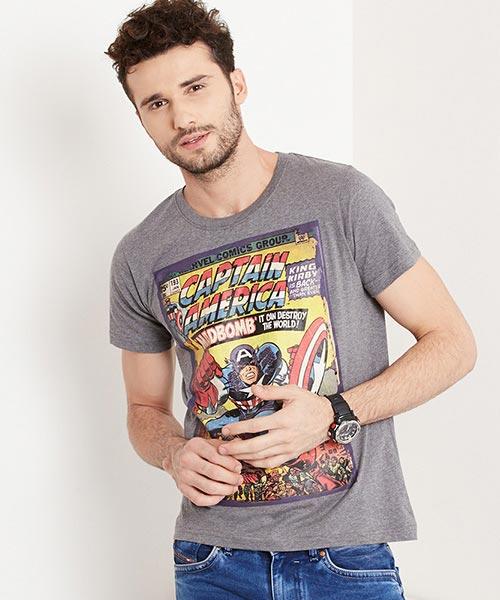 MARVEL- Captain America Cover Art Print Tee