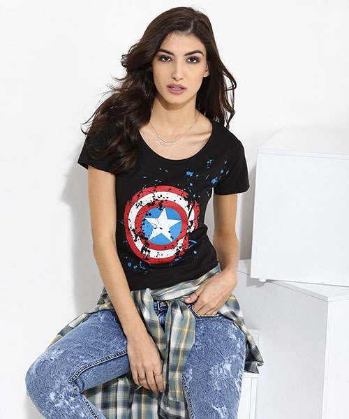 MARVEL- Captain America Shield Women's Top