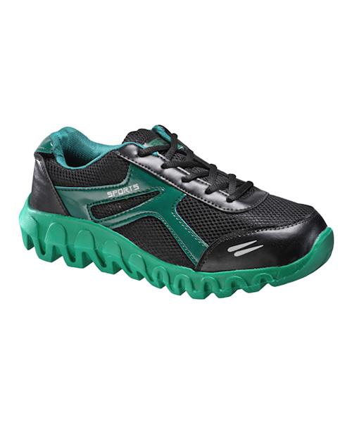 yepme strike sports shoes black green available at yepme