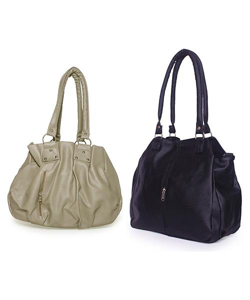 Arc HnH Women Handbag Combo Contemporary Black & Pretty Grey