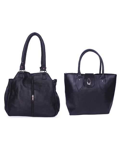 Arc HnH Women Handbag Combo Contemporary & Diva - Black