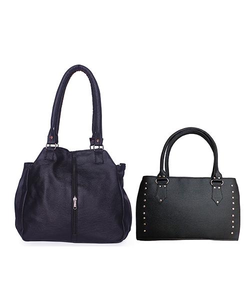 Arc HnH Women Handbag Combo Contemporary & Sporty - Black