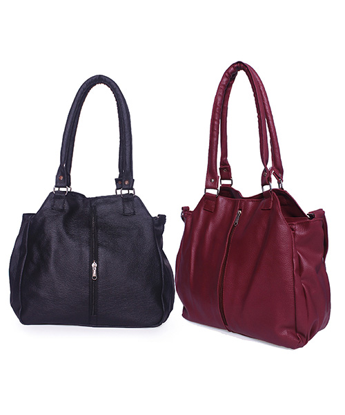 Arc HnH Women Handbag Combo Contemporary - Black & Pink