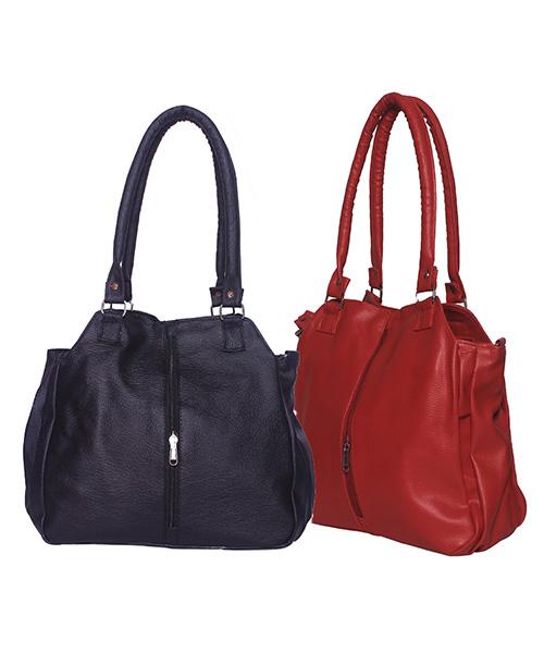 Arc HnH Women Handbag Combo Contemporary - Black & Red