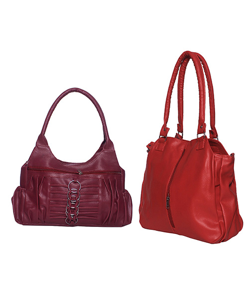 Arc HnH Women Handbag Combo Contemporary Red & Magnificent Pink