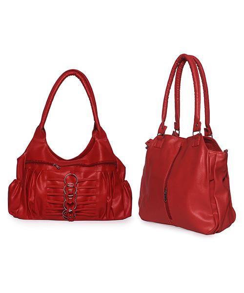 Arc HnH Women Handbag Combo Contemporary & Magnificent - Red