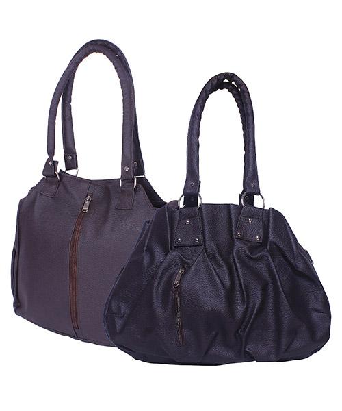 Arc HnH Women Handbag Combo Contemporary Brown & Pretty Black