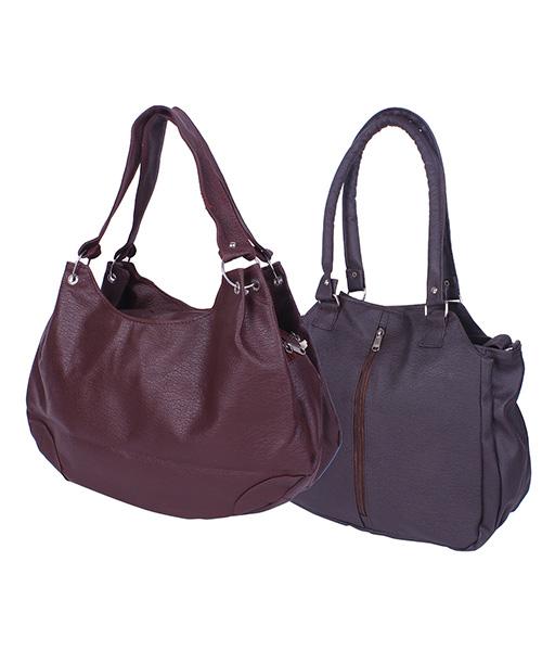 Arc HnH Women Handbag Combo Contemporary Brown & Palatial Maroon