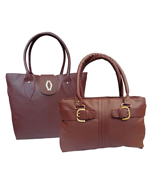 Arc HnH Women Handbag Combo Diva & Buckle - Maroon