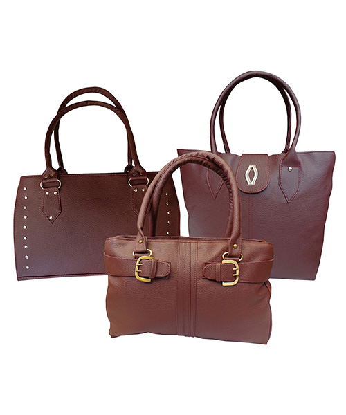 Arc HnH Women Handbag Combo Diva Sporty & Buckle - Maroon