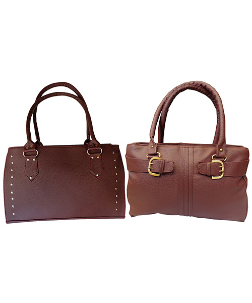 Arc HnH Women Handbag Combo Sporty & Buckle - Maroon