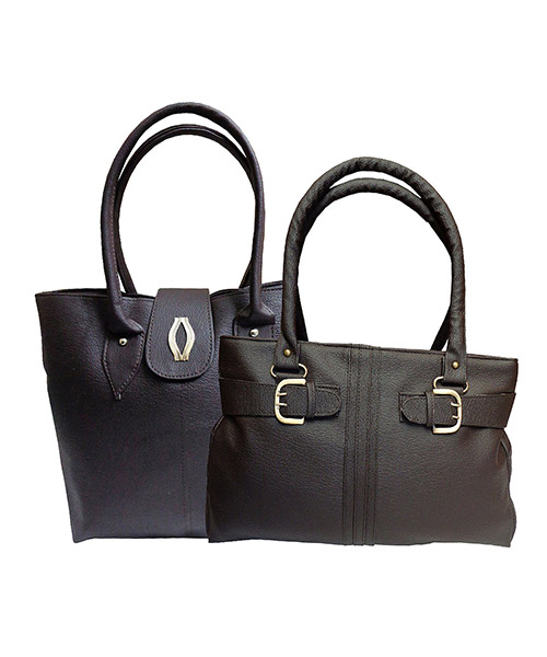 Arc HnH Women Handbag Combo Diva & Buckle - Brown
