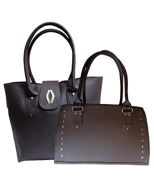 Arc HnH Women Handbag Combo Diva & Sporty - Brown