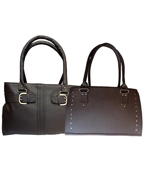 Arc HnH Women Handbag Combo Sporty & Buckle - Brown
