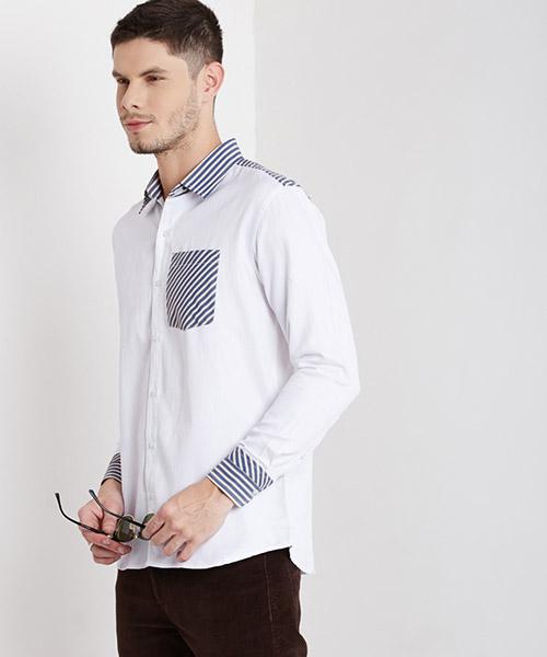 Yepme Albert Solid Shirt - White