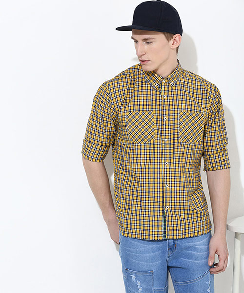 Yepme Marcus Check Shirt - Yellow