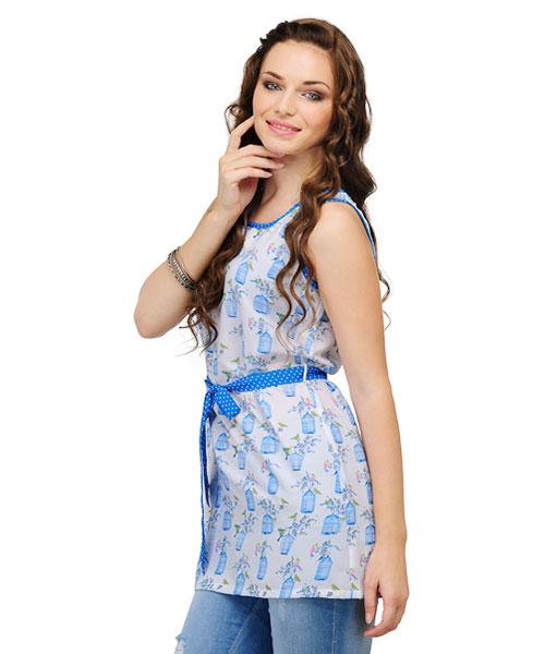 Yepme Fiore Printed Tunic – Blue
