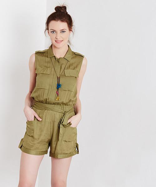 Yepme Ferling Playsuit - Green