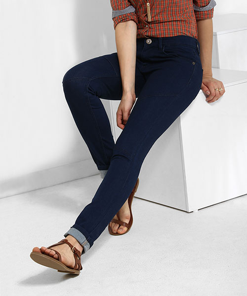 Yepme Jezebel Rinse Wash Denim - Blue
