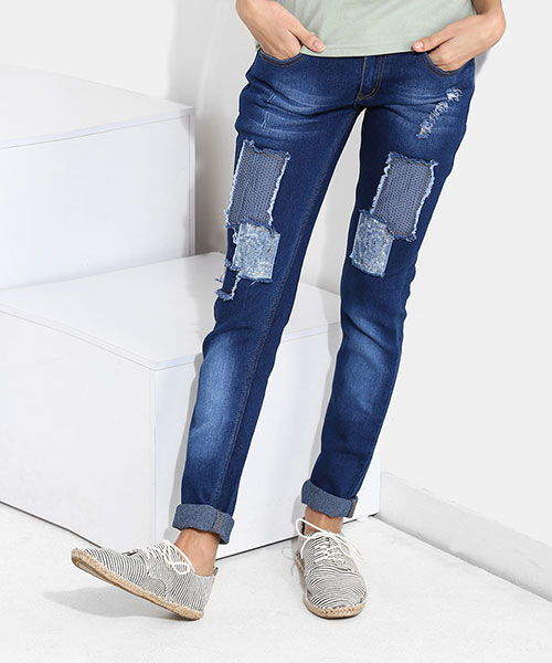 Yepme Junia Dark Wash Denim - Blue
