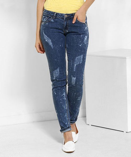 Yepme Kimberiee Ice Wash Denim - Blue